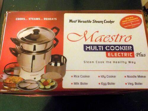 MAESTRO MULTI COOKER PLUS MC2 ELECTRIC STEAMS PREHEATS RICE NOODLE MAKER NIB