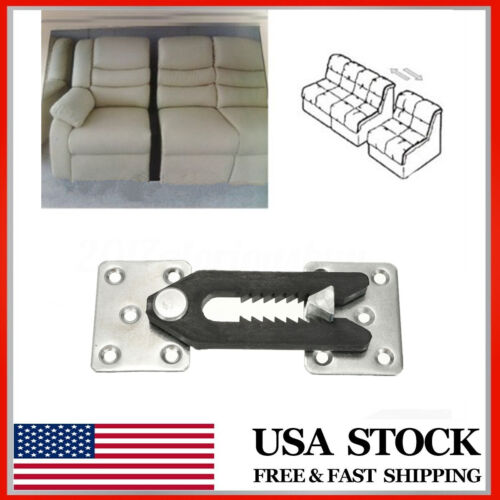 U-Type Iron Sheets Plastic Buckle Sofa Connector Couch Sectional Furniture US ~