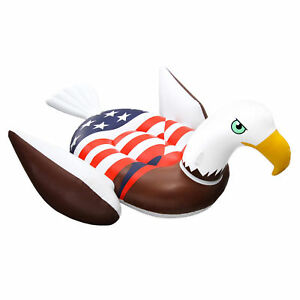 Swimline-90700-Inflatable-American-Bald-Eagle-Giant-Riding-Patriotic-Pool-Float