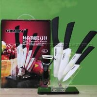 Ceramic Knife Set 4+5+6+7+peeler Inch Stand Kitchen Cutting Cutlery Sharp on Sale