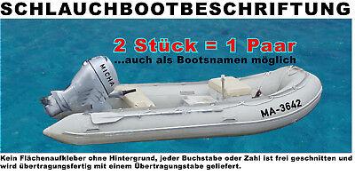 2 Stück Boot Beschriftung Boot Kennzeichen Vorschrift DIN mit 10 cm Höhe