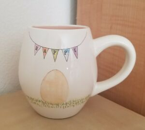 NEW-RAE-DUNN-by-MAGENTA-HAPPY-EASTER-Egg-Double-Sided-Coffee-Tea-Mug-Home-Decor