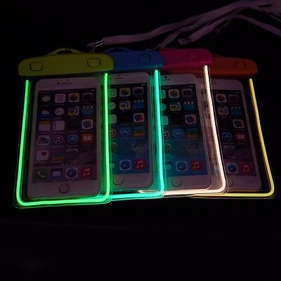 Color Waterproof Underwater Pouch Bag Pack Case Cellphone iPhone 7 6s Plus 5s SE