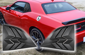 2x ABS Side Window Scoop Louvers Sun Shade Cover for Dodge Challenger 2008-2019