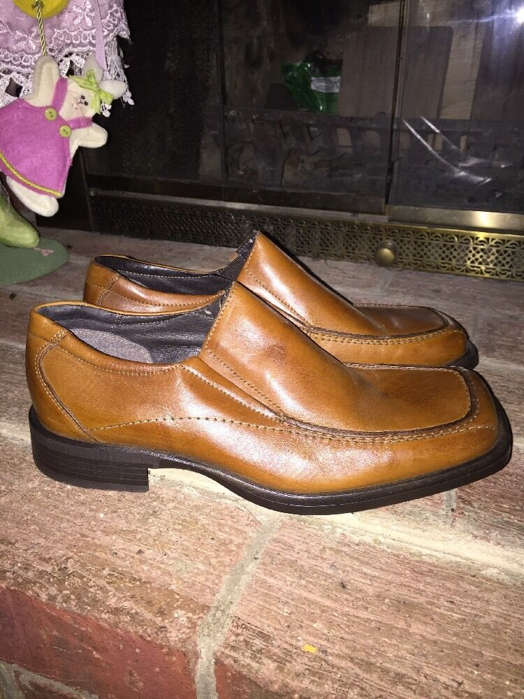 MARIO ROSSI 4 J CREW GENUINE LOAFERS LEATHER MENS CASUAL DRESS LOAFERS GENUINE SHOES SIZE 8.5 8705d6
