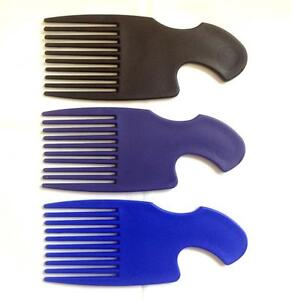 2 X Cheveux Afro Peigne Large dents Douche Noir Peigne Cheveux Frisés Brosse Styler Unisexe