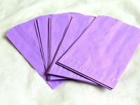 100 -5x7 Purple Paper Party Bags, Paper Merchandise Serrated Edged Bags