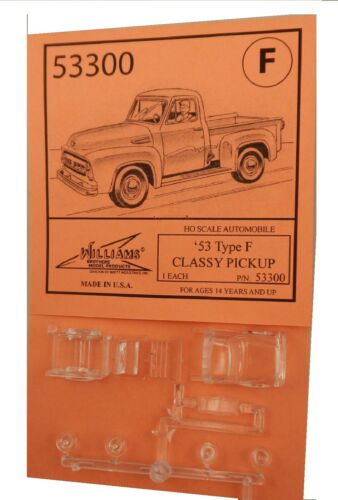 Williams Brothers Bros Automobile Model Kit HO Scale /'53 Classic Pickup Type F