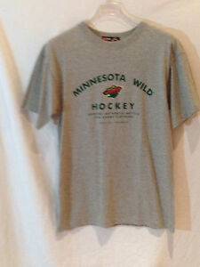 check out f29a9 6fe2a Minnesota Wild t-shirt CCM-NHL team gear for PUCK fans-Large ...