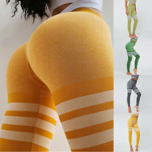 Women-Leggings-Yoga-Pants-High-Waist-Stretch-Fitness-Sports-Gym-Trousers-Jogging