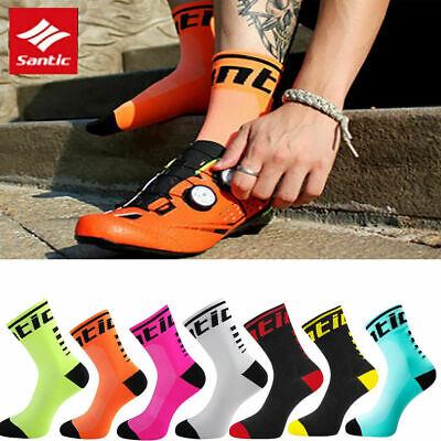 Santic Anti-sweat Cycling Socks Outdoors Breathable Running Bike Bicycle Socks