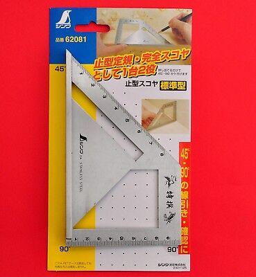 Japan SHINWA Square Layout Miter ruler 45 + 90 Degrees carpenter Winkel 62081