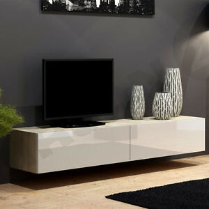 tv lowboard piore 180 board fernsehschrank h ngeschrank hochglanz matt h ngend ebay. Black Bedroom Furniture Sets. Home Design Ideas