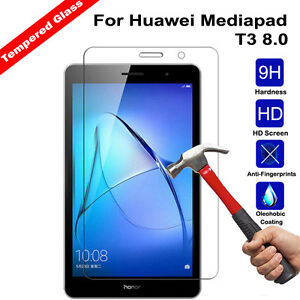 finest selection 40330 9c77b Details about Premium Tempered Glass Screen Protector Cover For Huawei  Mediapad T3 8.0 C5 T5