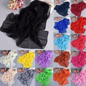 Fashion-Ladies-Long-Soft-Wrap-Womens-Shawl-Chiffon-Silk-like-Scarf-Scarves-New