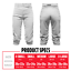 thumbnail 3 - Franklin Sports Youth Deluxe Baseball Pants - White NWT