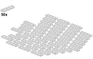 Used-LEGO-Plates-White-3710-05-1x4-50Stk-Platte-Weiss