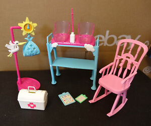 Image Is Loading Mattel Barbie Doll Furniture Baby Newborn Nursery Can