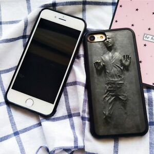 sale retailer 3b571 39105 Details about Star Wars Han Solo Frozen in Carbonite Silicone Case Cover  for iPhone 7 8 Plus X