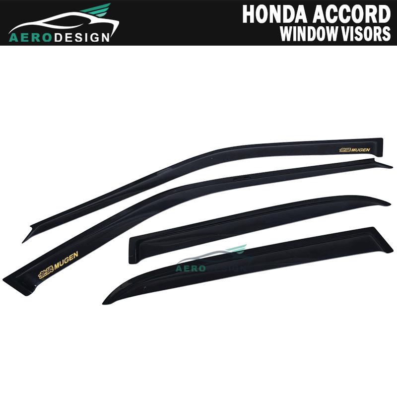 For 1990-93 Honda Accord 4Dr Window Visors Rain Guard Smoke 1.6MM Vent Deflector