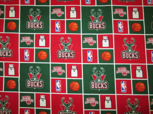 BUCKS MILWAUKEE NBA LICENSED QUILTING COTTON FABRIC FQ