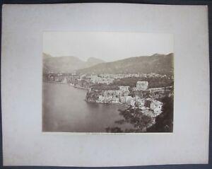 1890ca SORRENTO PANORAMA COLLA MARINA GRANDE foto albumina originale 20x25 cm
