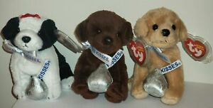 TY Beanie Baby Exclusive Set MORSEL, COOKIES AND CREME & CHOCOLATE KISS - MWMTs