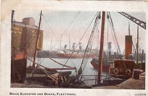 Postcard-Grain-Elevator-and-Docks-Fleetwood-Ref-B12