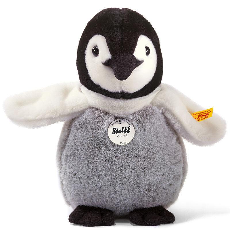 Steiff Klappen Pinguin Baby Klassisch Waschbar Plüschtier - 20cm - EAN 057090