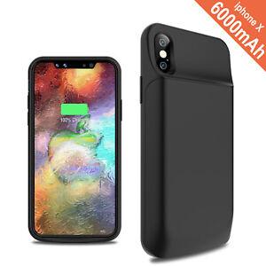 cheaper 4565d a59d6 Wireless Polymer Smart Battery Case Cover Power Bank Apple iPhone X ...