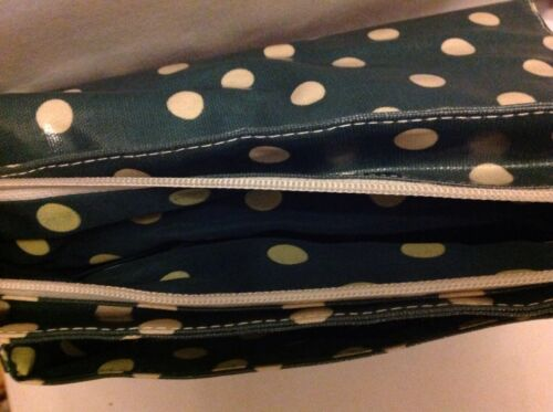 And Cotton Messenger Cream Green Bag Coated Dot Pvc qnd100wCO