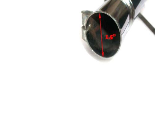 Royal Enfield Bullet Chrome Short Rocket Exhaust Silencer