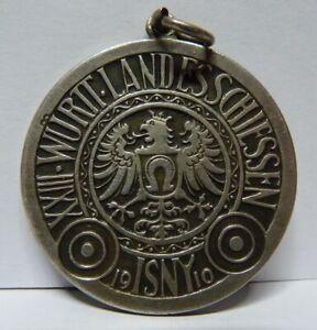 Medaillen Diszipliniert 950 Silber Medaille 23.württembergisches Landesschiessen Isny 1910