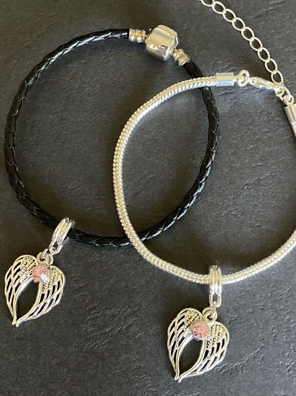 'In Memory Of' Angel Wings Bracelet. Memorial, Remembrance Gift