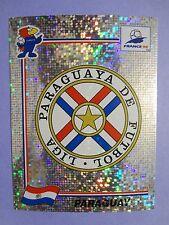 FIGURINA PANINI CALCIATORI FRANCE 98 SCUDETTO BADGE N.264 PARAGUAY STICKERS FIO