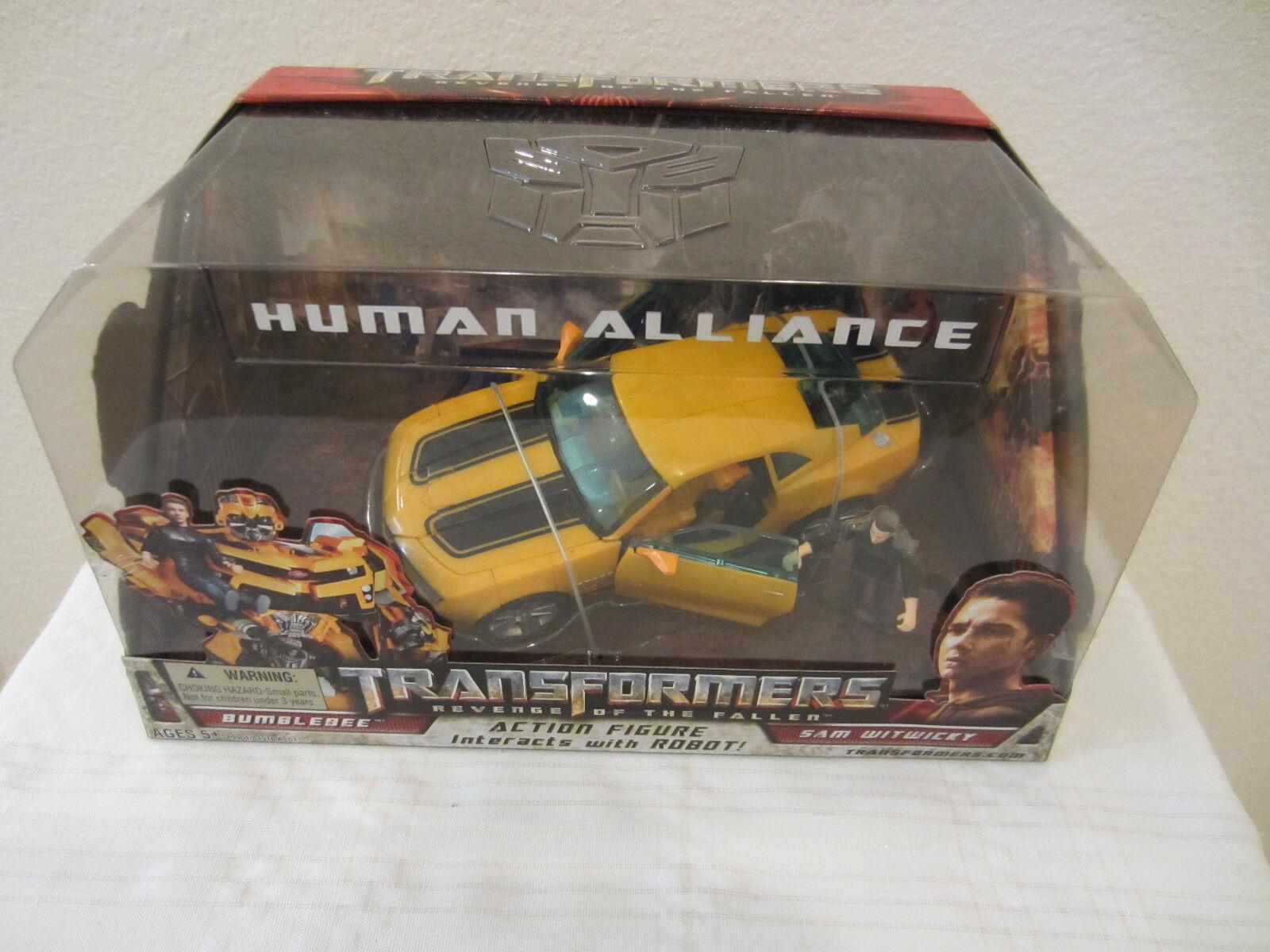 Transformers 2008 película la venganza de los fallan Human Alliance Bumblebee + Sam Menta en Caja Sellada