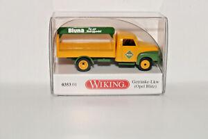 Wiking-035301-1-87-Boissons-Opel-Blitz-034-Bluna-034-Neuf-Emballage