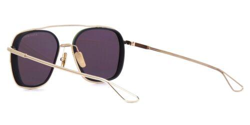 Dita SYSTEM-ONE White Gold Midnight Black//Light Gold Flash Mirror Sunglasses 02
