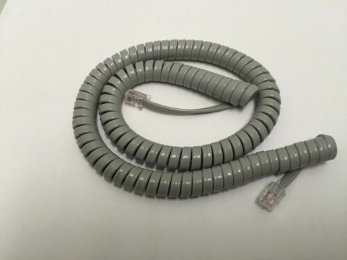 Nortel 12 ft Handset Receiver Curly Coil Cord Norstar Meridian Phone Gray