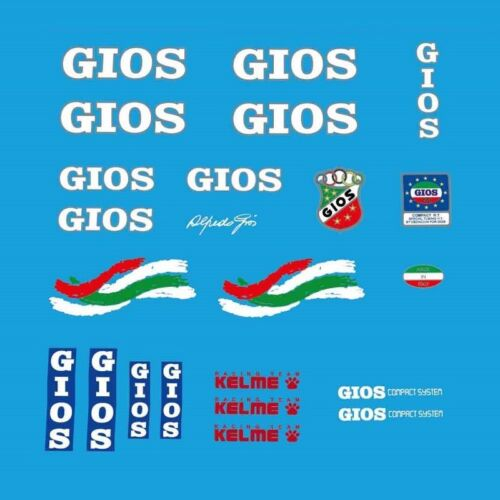 """Decals Transfers n.55 Gios /""""Compact H.T./"""" Kelme Team Bicycle Stickers"""