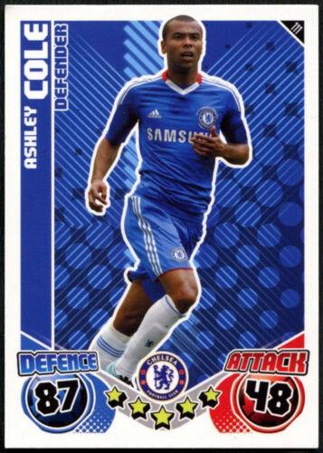 ASHLEY COLE #111 Chelsea Topps Match Attax Football 2010-11 Carte C602