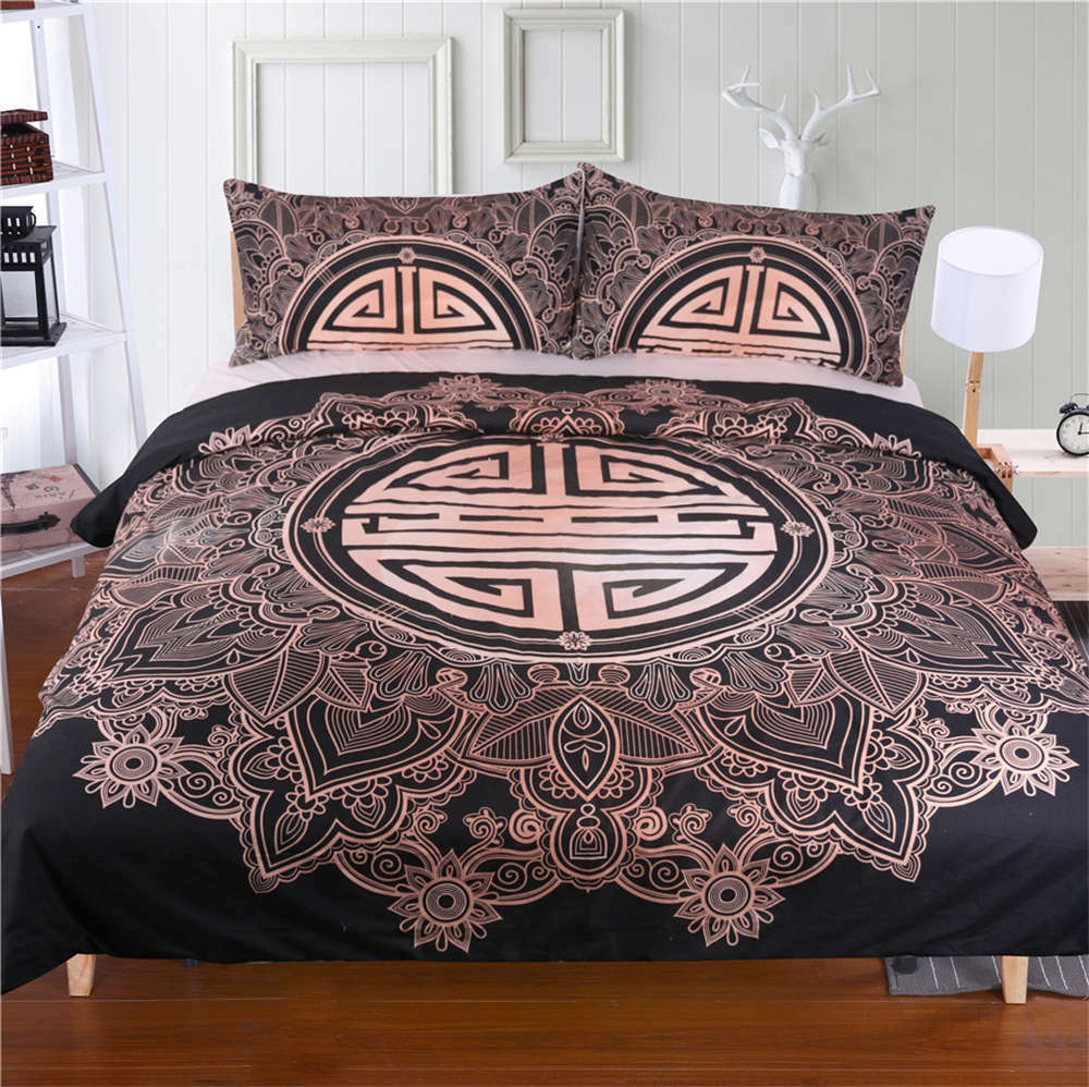 Some Maze Vintage Pattern 3D Digital Print Bedding Duvet Quilt Cover Pillowcase