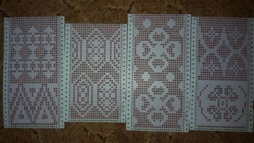 8 punch cards for Brother Knitting Machines Singer\Silver