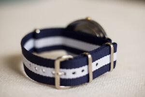 NATO Ballistic Nylon SS Military Striped Replacement Watch Strap / Band