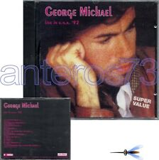 "GEORGE MICHAEL ""LIVE IN USA 92"" RARE CD MADE IN ITALY - SEALED"