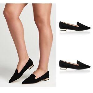 bb2b16ceca9f Womens Ladies Low Pearl Heel Slip on Flat Casual Smart Office ...