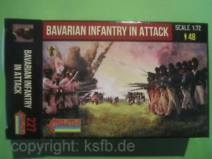 NEU-1-72-Strelets-227-Napoleon-Bayern-Infanterie-im-Angriff-vorgehend-Bavarians