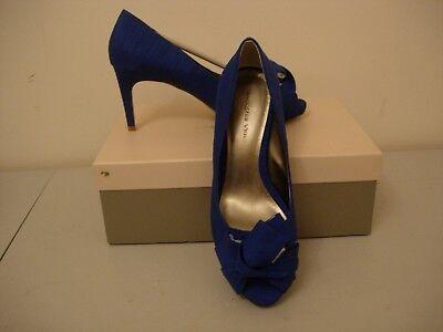 Jacques Vert Twist detalle Zapatos-Mid-Azul Talla 4-Nuevo