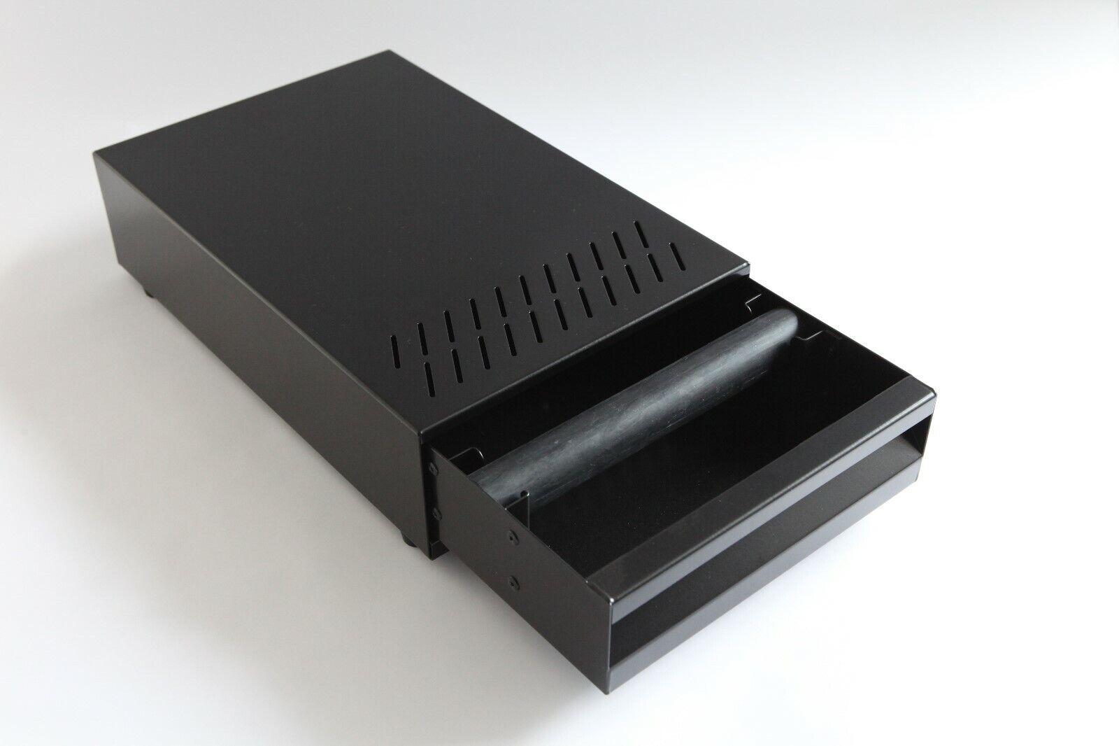 Cajón de nocaut de Café de Acero Inoxidable Caja Extra Pequeño-Negro Alta Calidad