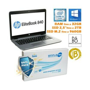 """PC COMPUTER PORTATILE NOTEBOOK HP 840 G3 14"""" I5 6200U WIN 10 PRO ORIGINALE-"""